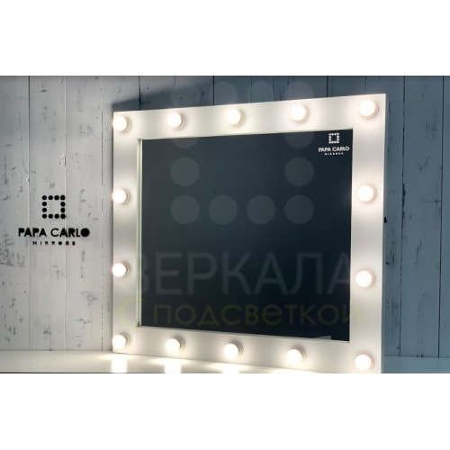 Гримерное зеркало настенное с подсветкой 90х100